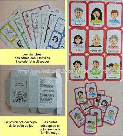 Fabrication d un jeu de 7 familles 1er jour livre catholique pour enfant - Jeux de fabrication de maison ...